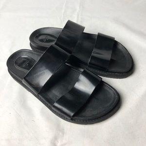 ZARA Trafaluc Flat Sandals Black 38